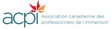 ACPI. Association canadienne des professionnels de l'immersion. The dot in the I is haped as a mapple leaf.