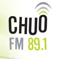 CHUO FM 89.1. The O is surrounded by audio waves.
