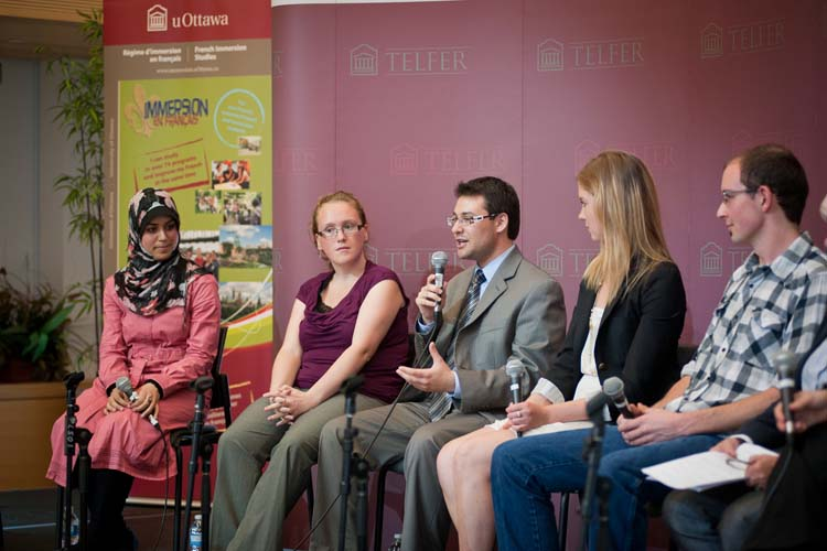 """Immersion students speak at the 5th anniversary of French Immersion Studies"""""""