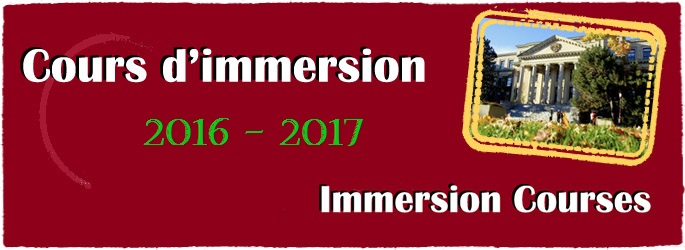 Immersion Courses