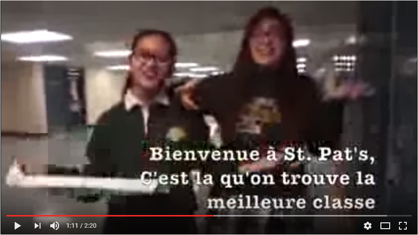 Winner 2015 French Immersion Contest